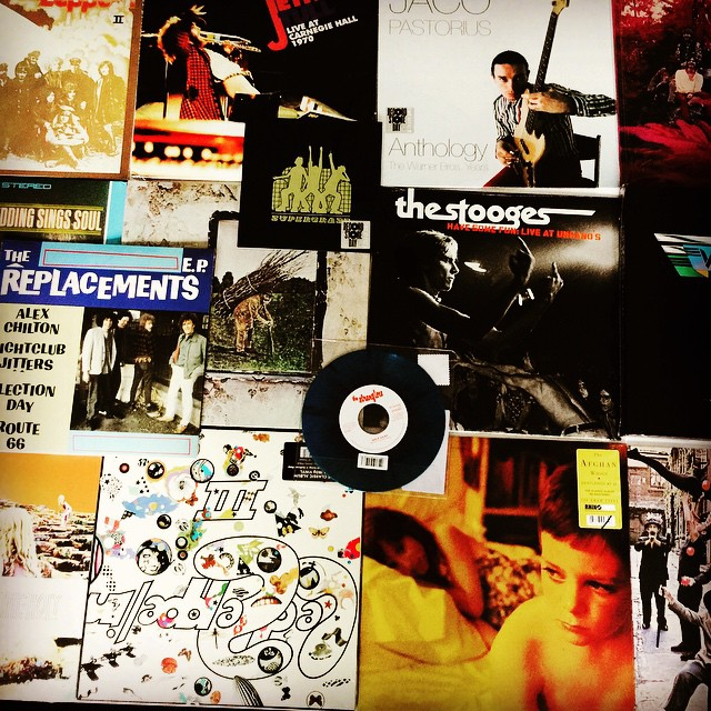 Delivered to the studio today; many classic albums. Spinning & DJ is in the houzzzzzz